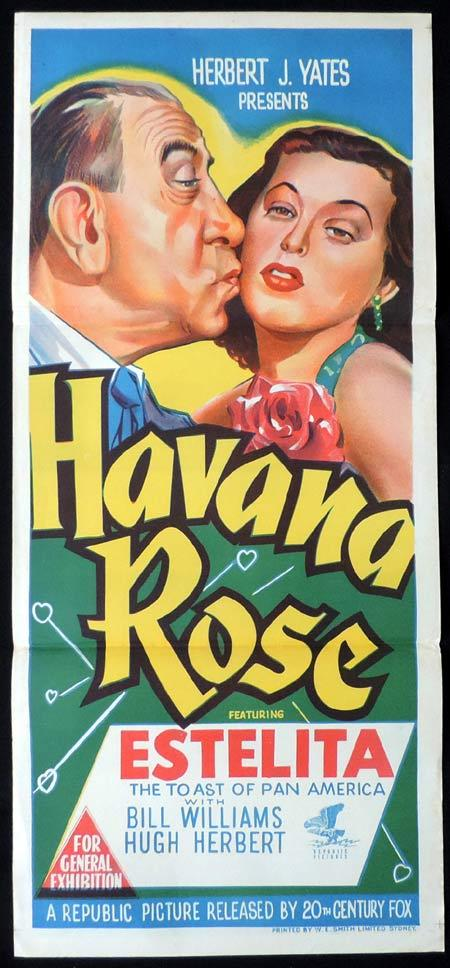 HAVANA ROSE Original Daybill Movie Poster Estelita Rodriguez