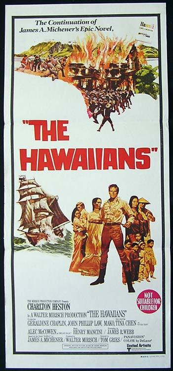 THE HAWAIIANS Original Daybill Movie Poster Charlton Heston