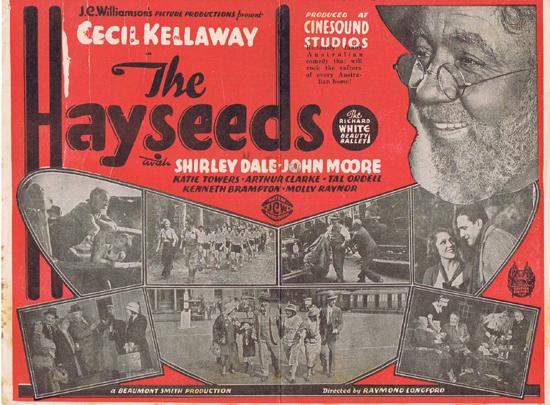 HAYSEEDS 1933 Cecil Kellaway RARE Australian Cinema Movie Herald