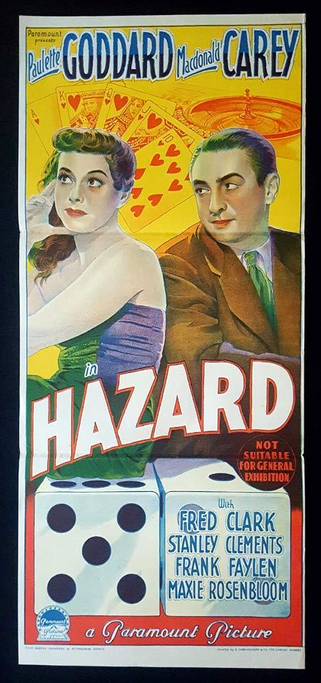 HAZARD Original Daybill Movie Poster GAMBLING Paulette Goddard
