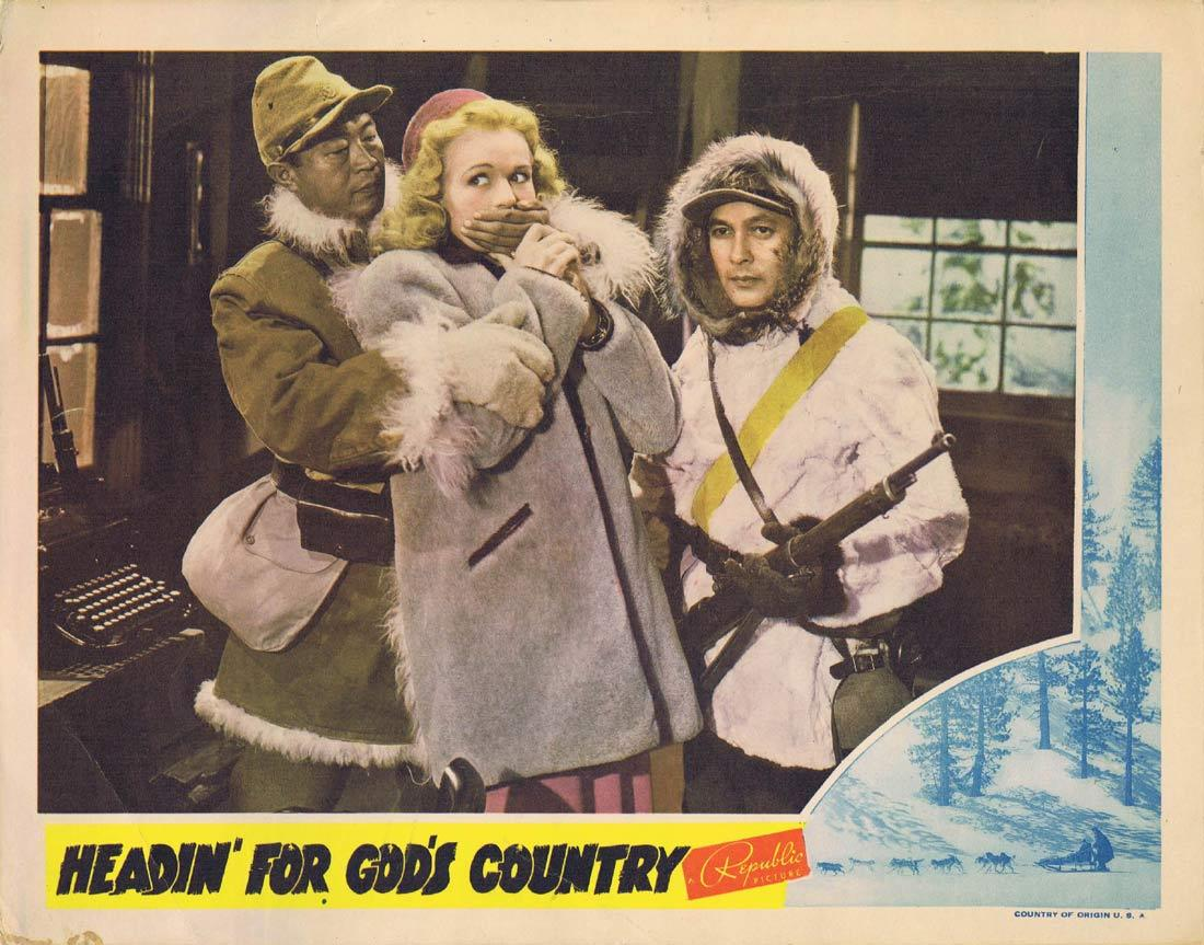 HEADIN for GODS COUNTRY Lobby Card William Lundigan Virginia Dale