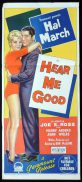 HEAR ME GOOD Original Daybill Movie Poster HAL MARCH Merry Anders Richardson Studio