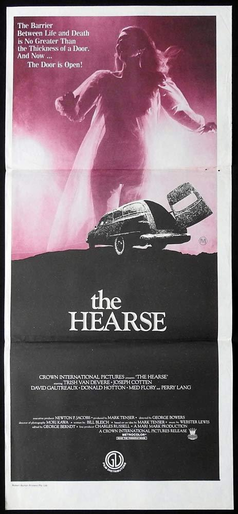 THE HEARSE Original Daybill Movie Poster Trish Van Devere Joseph Cotten