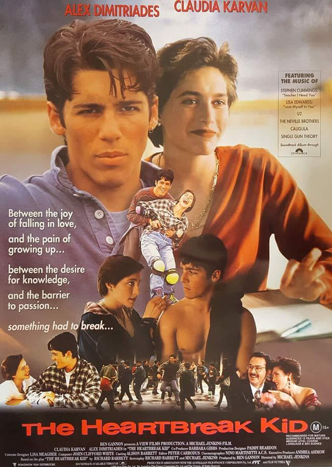 THE HEARTBREAK KID Rolled Australian One sheet movie poster 1984 Alex Dimitriades