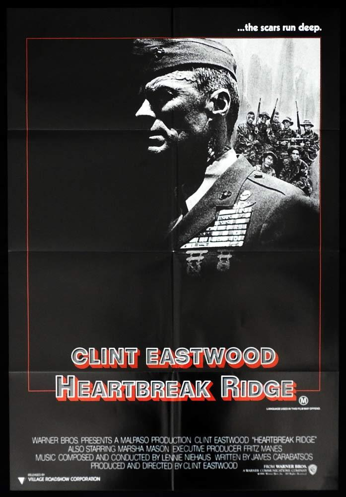 HEARTBREAK RIDGE Original One sheet Movie Poster Clint Eastwood