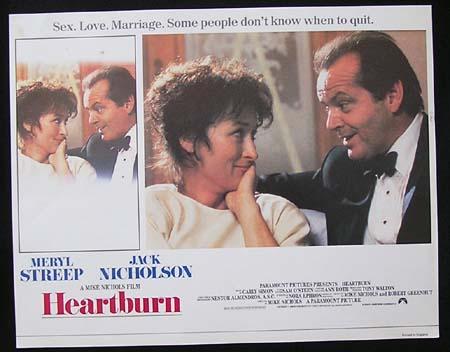 HEARTBURN '86-Jack Nicholson-Meryl Streep ORIGINAL US Lobby card #2