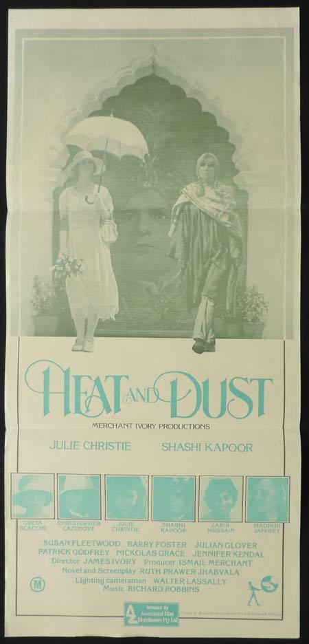 HEAT AND DUST Original Daybill Movie Poster Julie Christie Greta Scacchi Shashi Kapoor