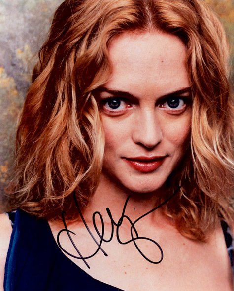 "Authentic Heather Graham Autographed Colour Photo 8"" x 10""."
