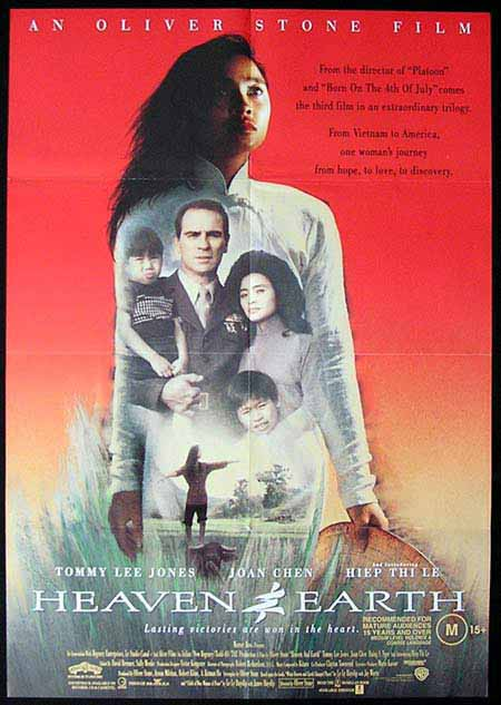 HEAVEN & EARTH Original One sheet Movie poster Tommy Lee Jones-1sheet poster