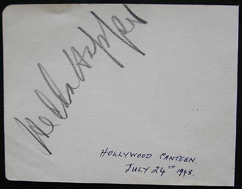 HEDDA HOPPER Rare 1943 Authentic Movie Star Autograph