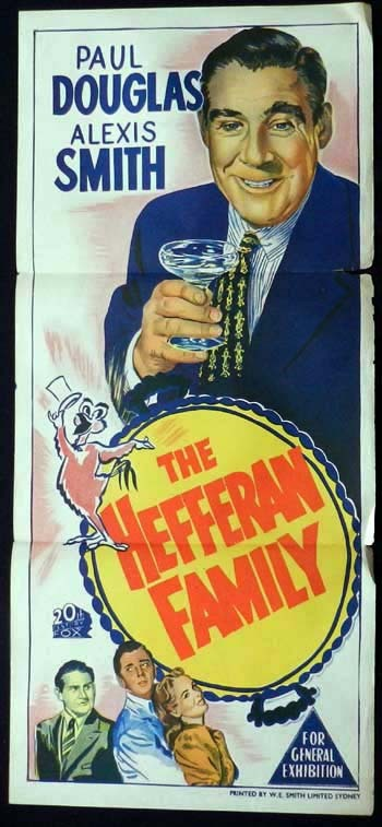 THE HEFFERNAN FAMILY Daybill Movie poster Dermott Walsh Film Noir