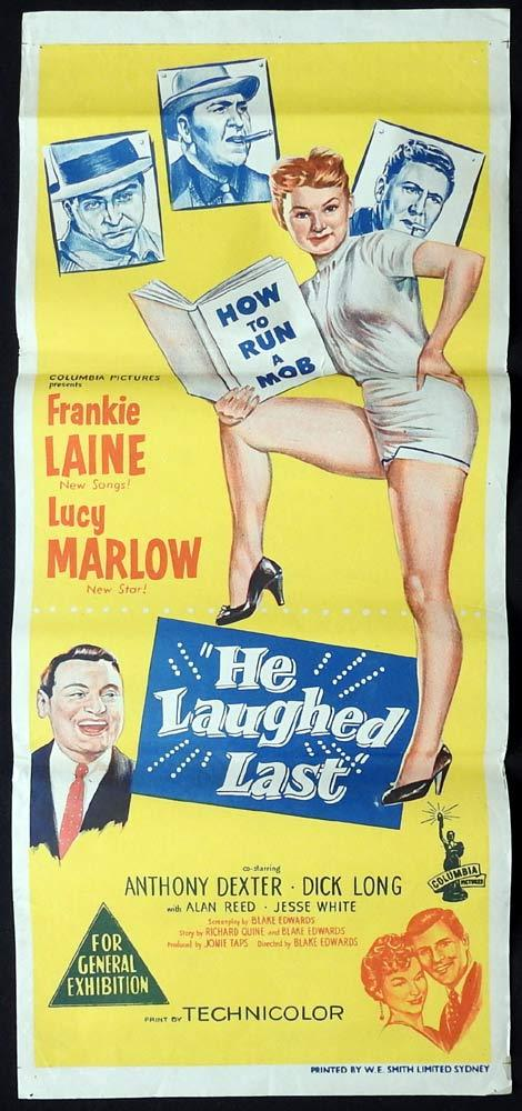HE LAUGHED LAST Daybill Movie Poster Blake Edwards Frankie Laine 1956