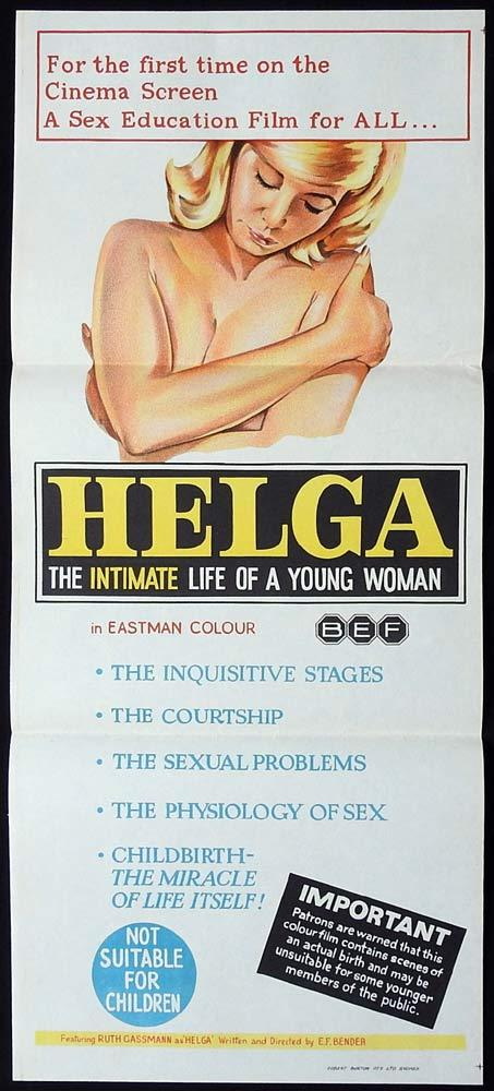 HELGA THE INTIMATE LIFE OF A YOUNG WOMAN Original Daybill Movie Poster