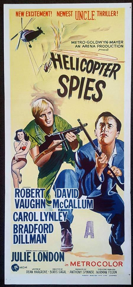 HELICOPTER SPIES Original Daybill Movie Poster Man from Uncle