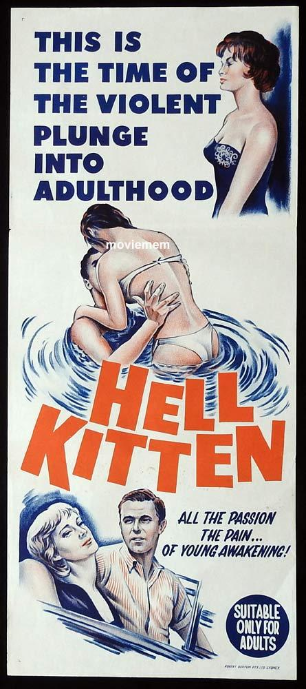HELL KITTEN Original Daybill Movie Poster Jo Ann LeCompte Frank Roche