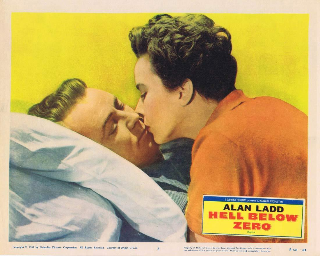 HELL BELOW ZERO Lobby Card 5 Alan Ladd Stanley Baker 1958r