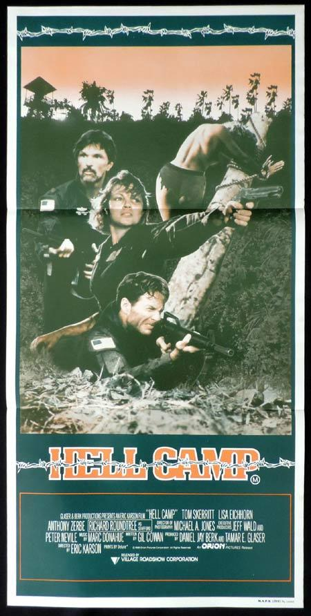 HELL CAMP Original Daybill Movie Poster Opposing Force Tom Skerritt