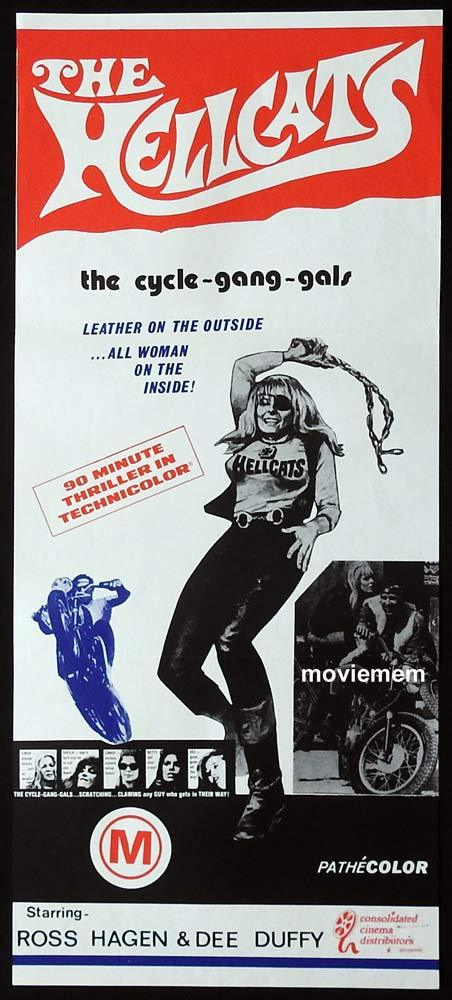 THE HELLCATS Original Daybill Movie Poster Cycle Gang Girls