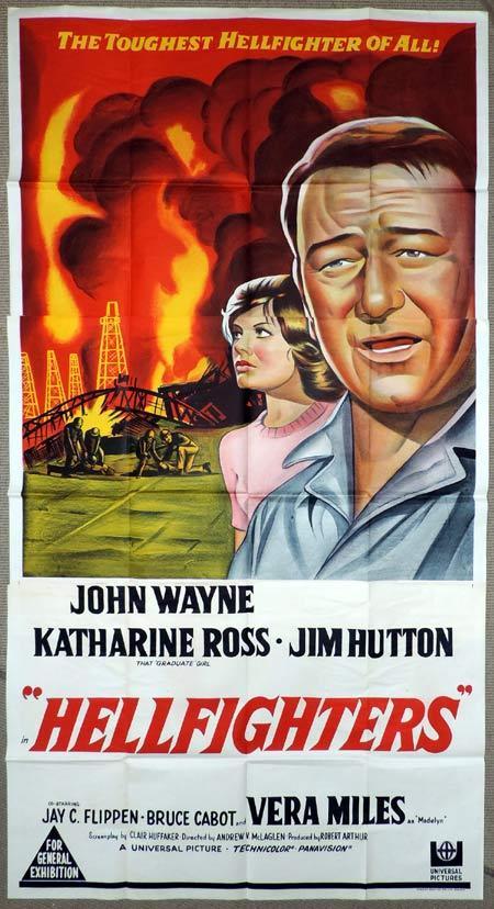 HELLFIGHTERS Original 3 Sheet Movie Poster John Wayne