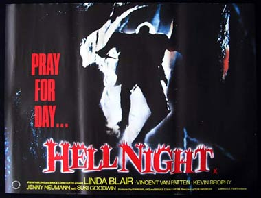 HELL NIGHT '81-Linda Blair-Van Patten-HORROR British Quad