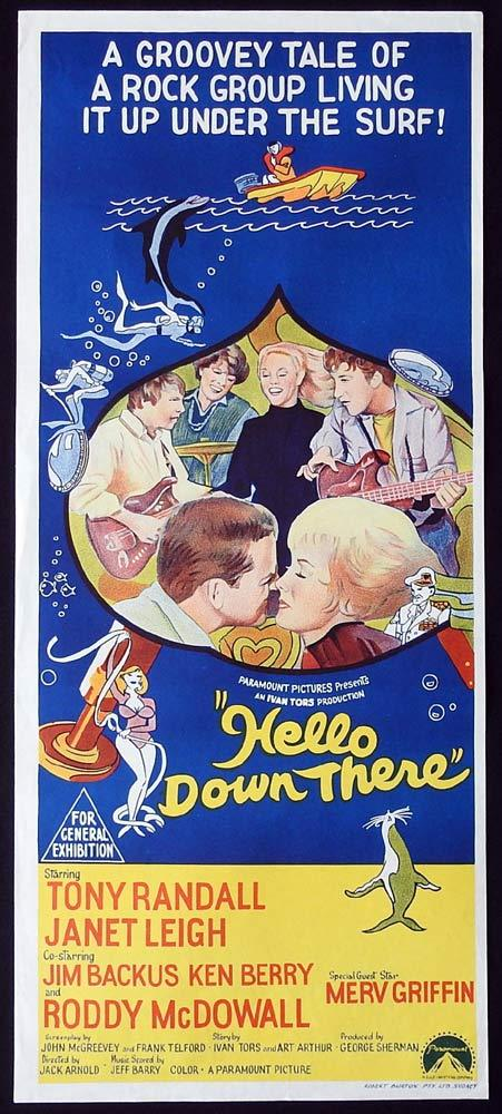 HELLO DOWN THERE Original Daybill Movie Poster Tony Randall Janet Leigh