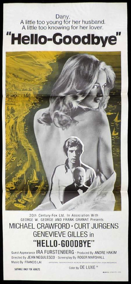HELLO GOODBYE Original Daybill Movie Poster Geneviève Gilles Michael Crawford