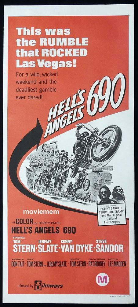 HELL'S ANGELS 690 Original Daybill Movie Poster Tom Stern BIKER MOTORCYCLE