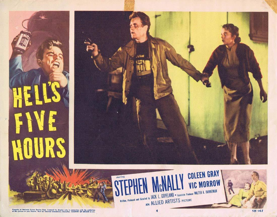 HELL'S FIVE HOURS Lobby Card 4 Stephen McNally Coleen Gray Vic Morrow