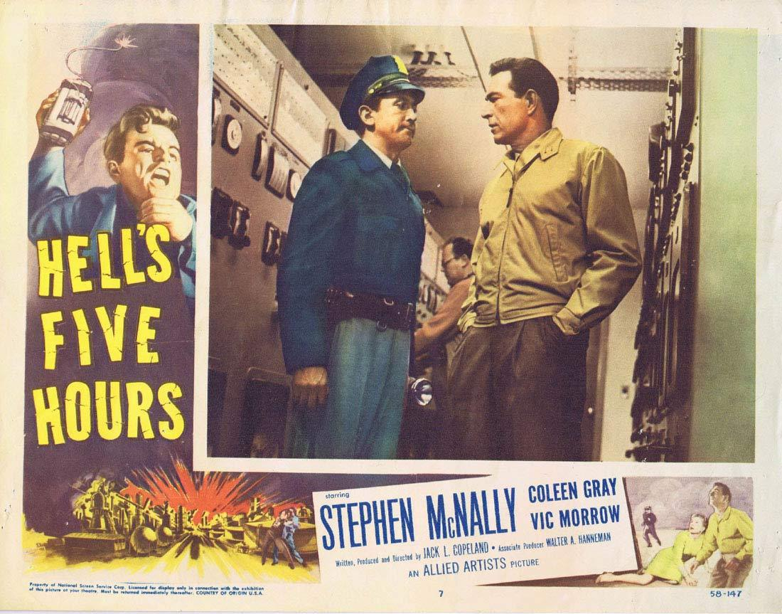 HELL'S FIVE HOURS Lobby Card 7 Stephen McNally Coleen Gray Vic Morrow