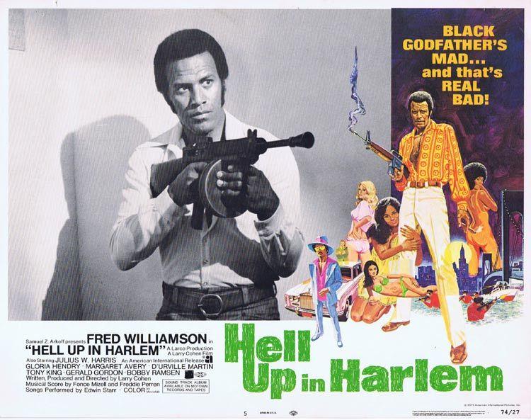 HELL UP IN HARLEM Lobby card 5 Fred Williamson Blaxploitation