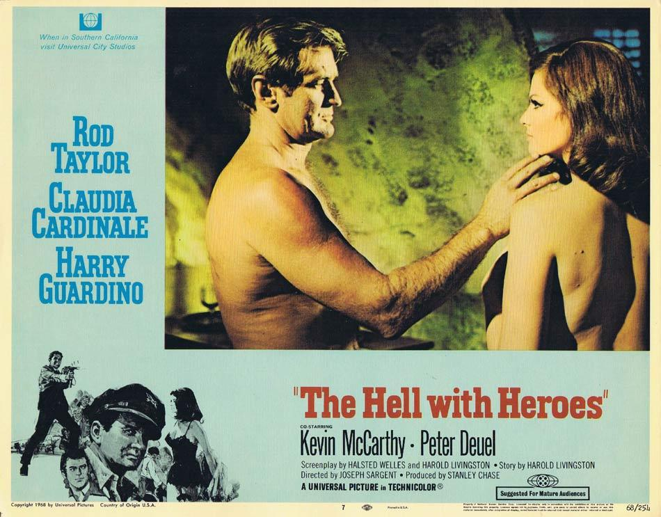THE HELL WITH HEROES Lobby Card 7 Claudia Cardinale