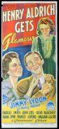 HENRY ALDRICH GETS GLAMOR Original Daybill Movie Poster JIMMY LYDON Richardson Studio