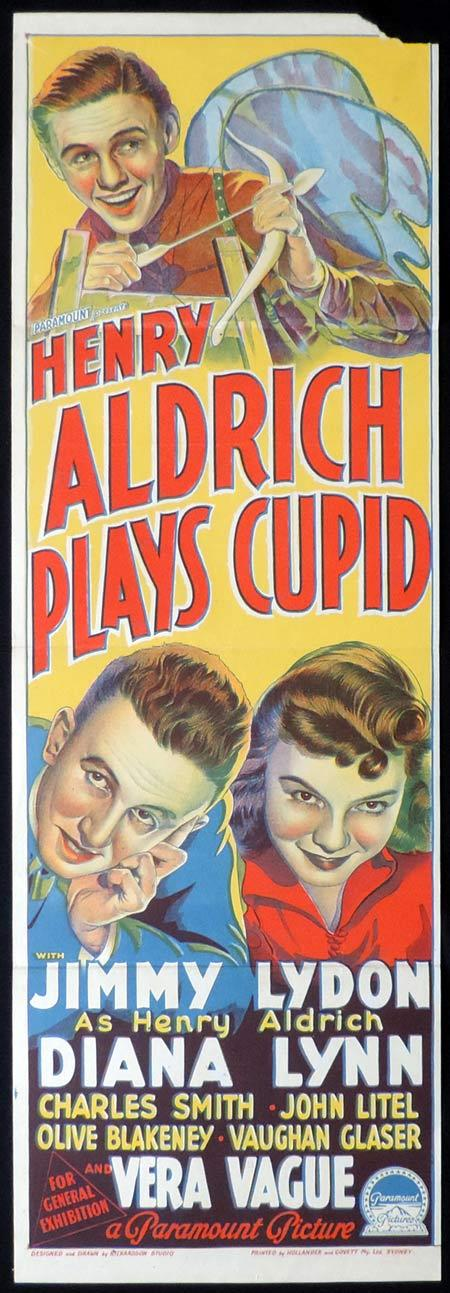 HENRY ALDRICH PLAYS CUPID Daybill Movie poster RICHARDSON STUDIO Jimmy Lydon