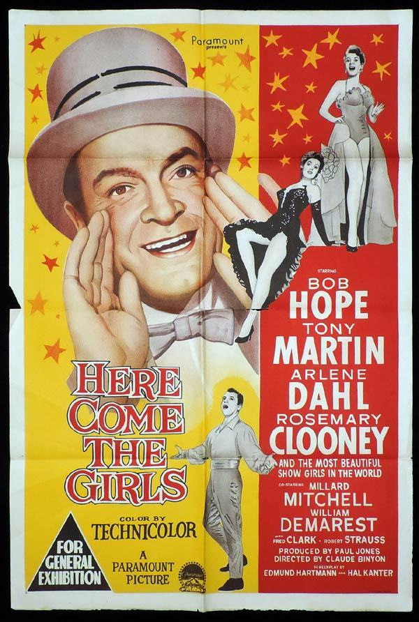 HERE COME THE GIRLS One Sheet Movie Poster Bob Hope