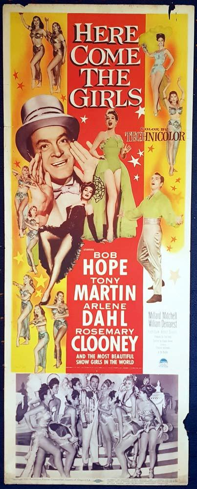 HERE COME THE GIRLS Movie Poster Bob Hope US Insert