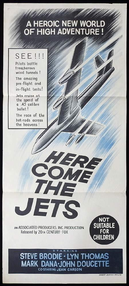 HERE COME THE JETS Original Daybill Movie Poster Steve Brodie Lyn Thomas