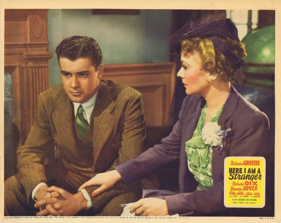 HERE I AM STRANGER Lobby Card Richard Greene Gladys George