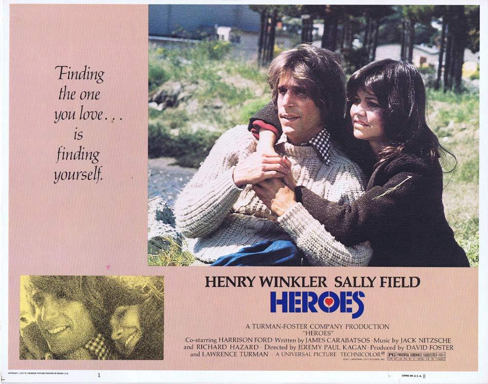 HEROES Lobby Card 1 Henry Winkler Sally Field Harrison Ford