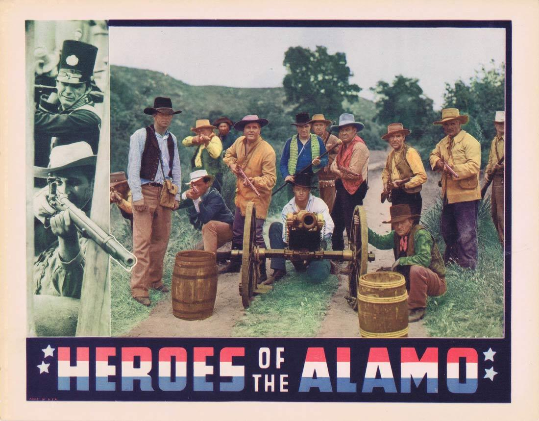 HEROES OF THE ALAMO Vintage Movie Lobby Card Bruce Warren Lane Chandler Earl Hodgins