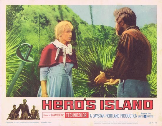 HERO'S ISLAND Lobby card 1962 James Mason Kate Manx