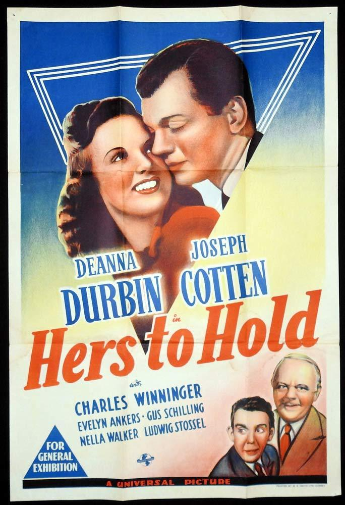 HERS TO HOLD Original One sheet Movie Poster Deanna Durbin