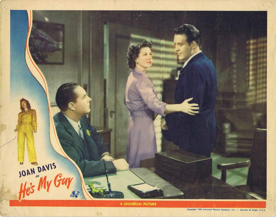 HE'S MY GUY Vintage Lobby Card Dick Foran Irene Hervey Joan Davis