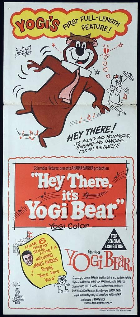 HEY THERE ITS YOGI BEAR Original Daybill Movie Poster Hanna Barbera