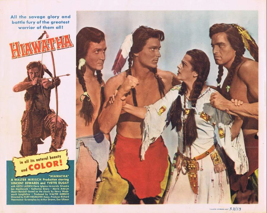 HIAWATHA Lobby Card 2 Vince Edwards American Indian Western