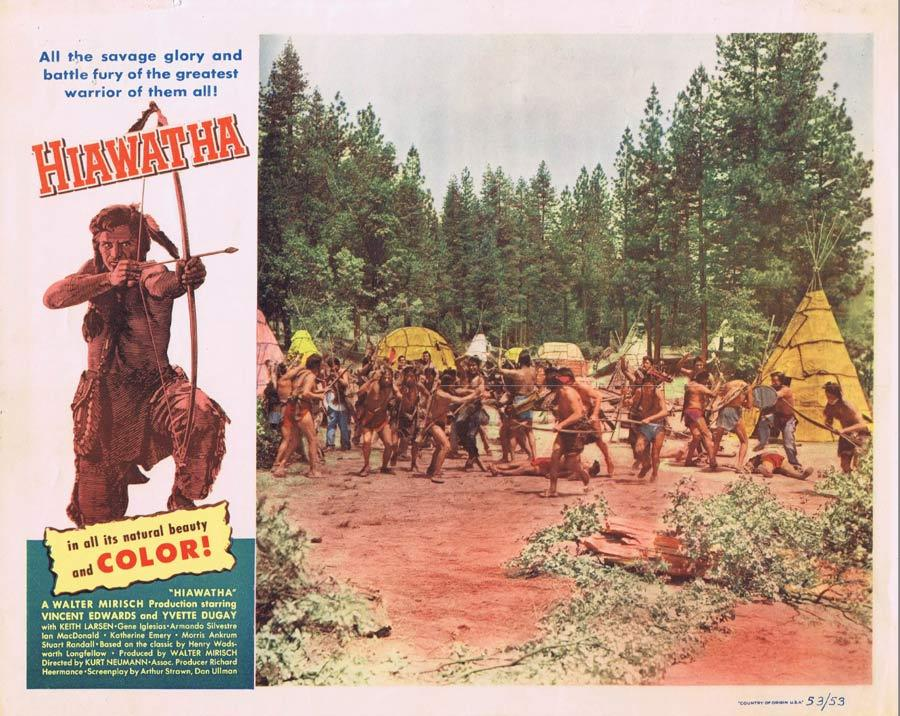 HIAWATHA Lobby Card 3 Vince Edwards American Indian Western