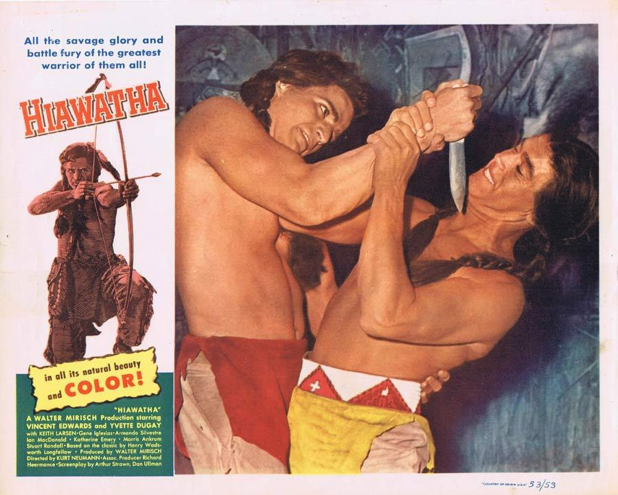 HIAWATHA Lobby Card 4 Vince Edwards American Indian Western
