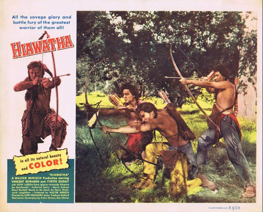 HIAWATHA Lobby Card 5 Vince Edwards American Indian Western