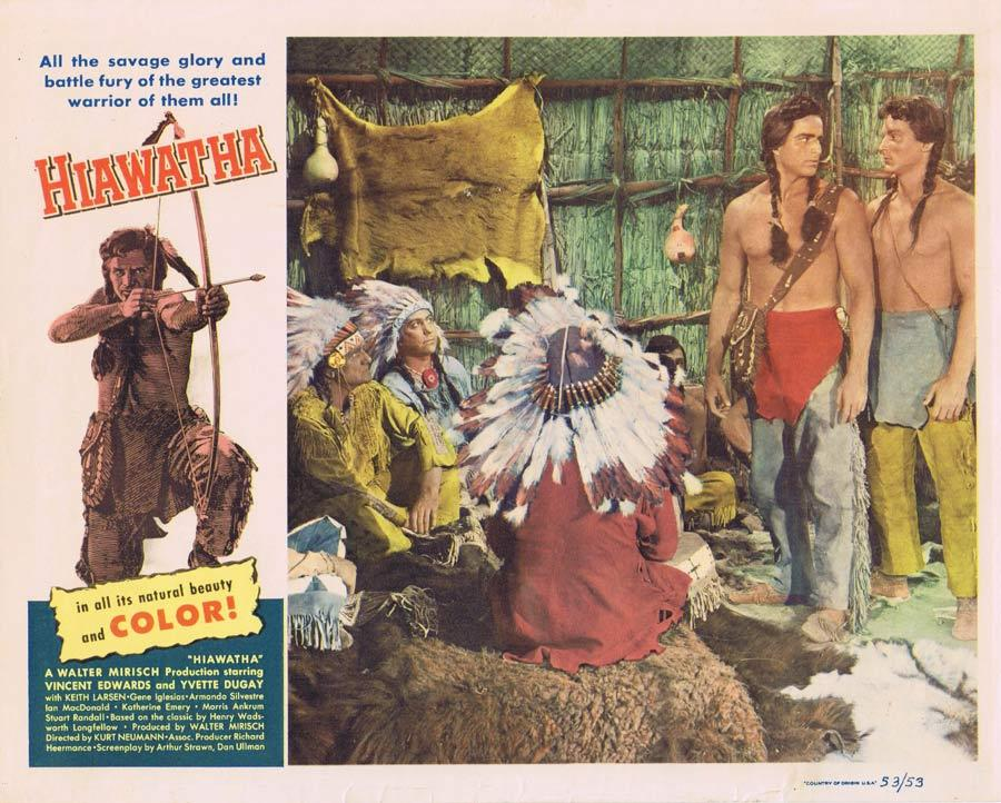 HIAWATHA Lobby Card 7 Vince Edwards American Indian Western