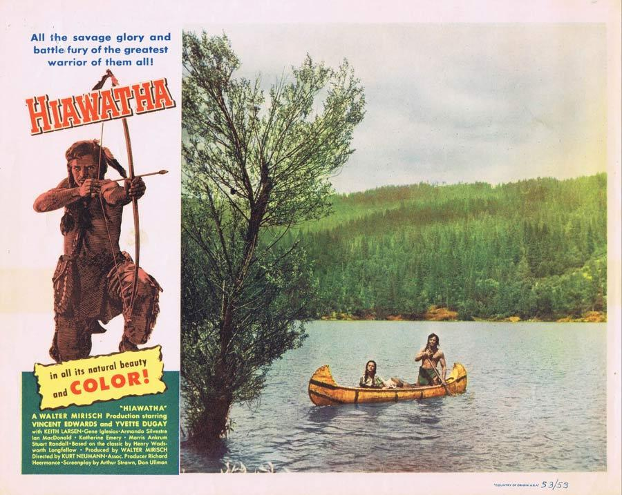 HIAWATHA Lobby Card 8 Vince Edwards American Indian Western