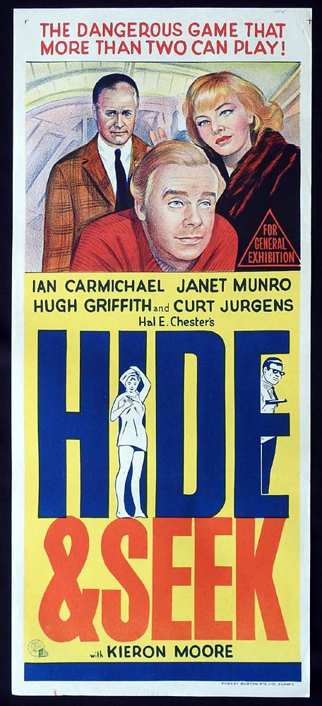 HIDE AND SEEK Original Daybill Movie Poster Ian Carmichael